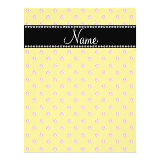 Personalized name Yellow pink diamonds Custom Flyer