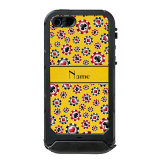 Personalized name yellow poker chips incipio ATLAS ID™ iPhone 5 case