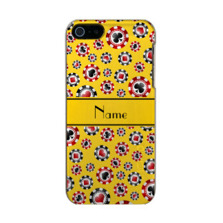 Personalized name yellow poker chips incipio feather® shine iPhone 5 case