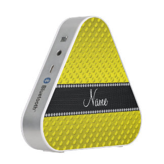 Personalized name yellow polka dots