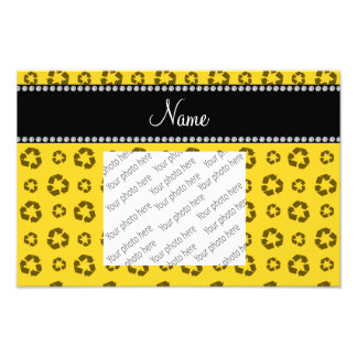 Personalized name yellow recycling pattern photograph