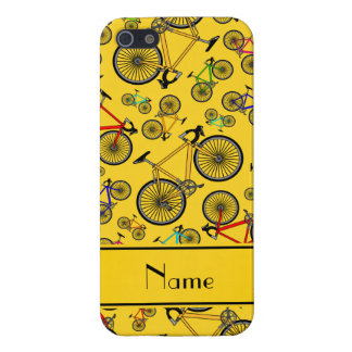 Personalized name yellow road bikes iPhone 5/5S cover