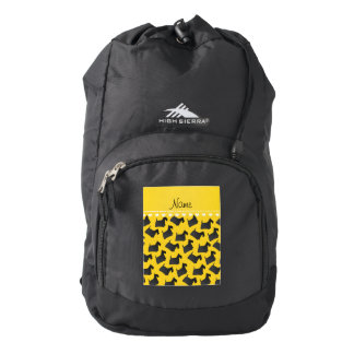 Personalized name yellow scottish terrier dogs backpack