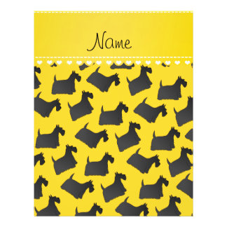 Personalized name yellow scottish terrier dogs 21.5 cm x 28 cm flyer