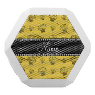 Personalized name yellow shells white boombot rex bluetooth speaker