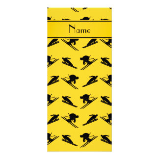 Personalized name yellow ski pattern custom rack card