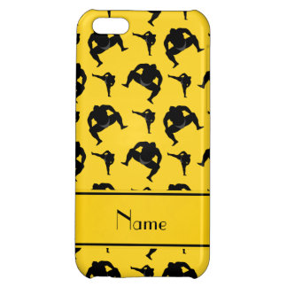 Personalized name yellow sumo wrestling iPhone 5C covers