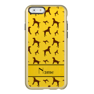 Personalized name yellow Vizsla dogs Incipio Feather® Shine iPhone 6 Case
