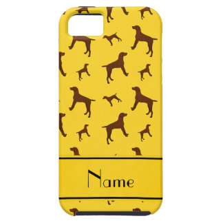 Personalized name yellow Vizsla dogs iPhone 5 Cases