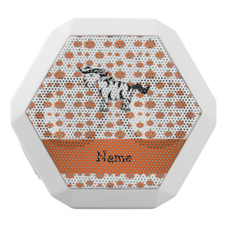 Personalized name zebra pumpkins pattern white boombot rex bluetooth speaker