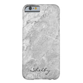 Personalized Named Gray Granite iPhone 6/6s Case