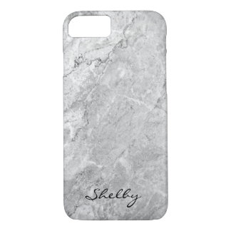 Personalized Named Gray Granite iPhone 7 Case