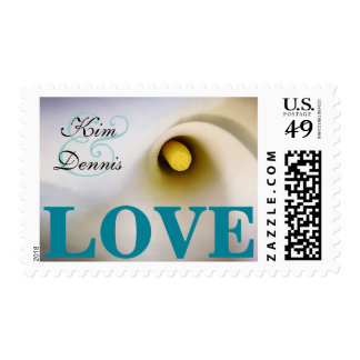 Personalized Names Calla Lily Love Postage Stamps
