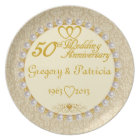 PERSONALIZED (NAMES/DATES) 50th Anniversary Plate