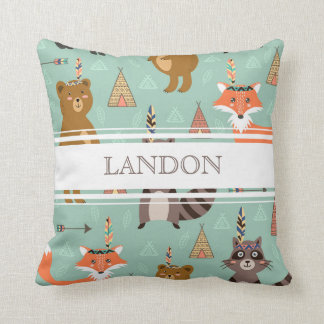 Personalized Native Forest Friends Pillow