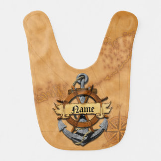 Personalized Nautical Anchor And Wheel Bib