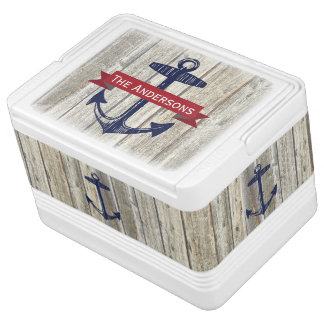 Personalized Nautical Anchor Igloo Cool Box
