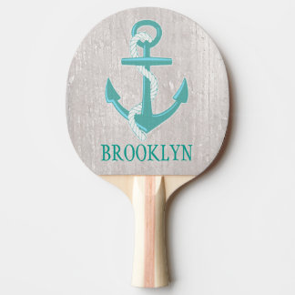 Personalized Nautical Anchor Ping Pong Paddle