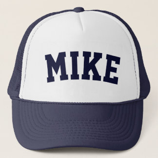 Personalized Navy Blue Short Name Trucker Hat