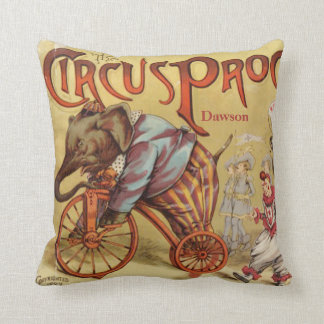 Personalized New Baby Boy's Room Circus Elephant Cushion