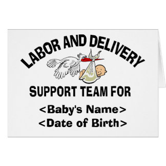 Personalized New Baby Support Team Cards