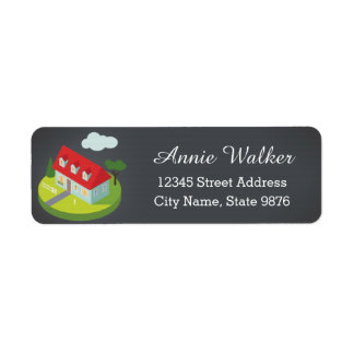 Personalized New Home Return Address Label