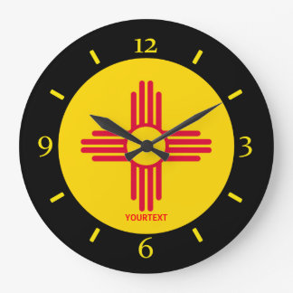Personalized New Mexico State Flag Design on a Wall Clocks