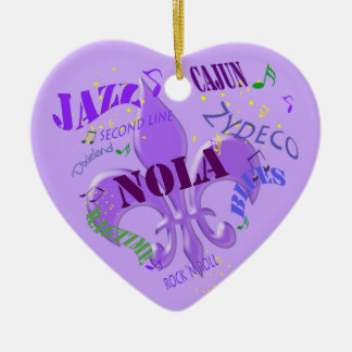 Personalized New Orleans Music Purple Christmas Ornament