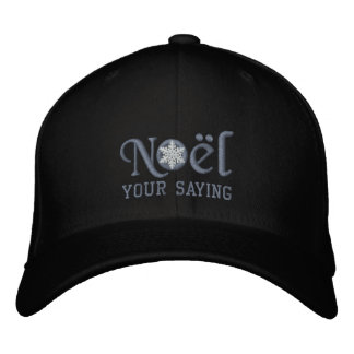 Personalized Noel Snowflake Design Embroidered Hats