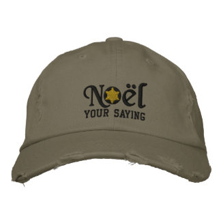 Personalized Noel Snowflake Military Style Embroidered Cap