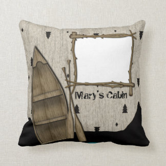 Personalized North Woods Cabin Pillow