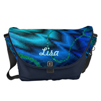 Personalized Northern Lights Large Messenger Bag