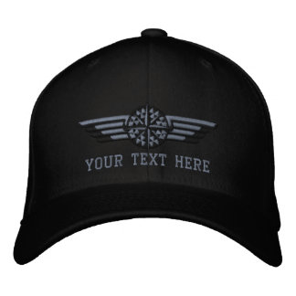 Personalized Northern Star Compass Pilot Wings Embroidered Cap