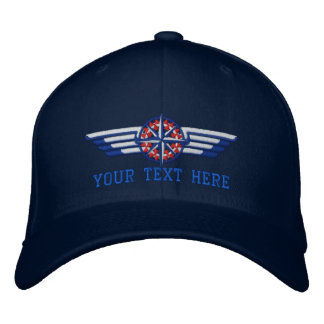 Personalized Northern Star Compass Pilot Wings Embroidered Hat
