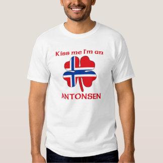 Personalized Norwegian Kiss Me I'm Antonsen Tee Shirts