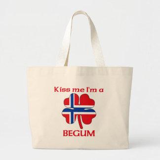 Personalized Norwegian Kiss Me I'm Begum Tote Bag
