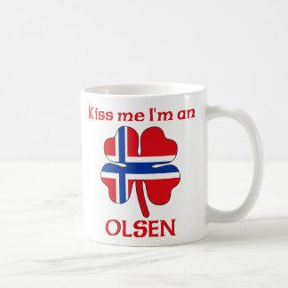 Personalized Norwegian Kiss Me I'm Olsen Classic White Coffee Mug