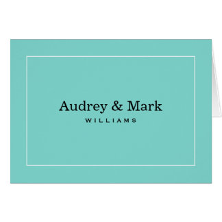 Personalized Note Cards | Aqua Blue