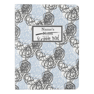 Personalized Notes/Scribble Pad (Blue/Charcoal) Extra Large Moleskine Notebook
