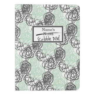 Personalized Notes/Scribble Pad (Mint/Charcoal) Extra Large Moleskine Notebook