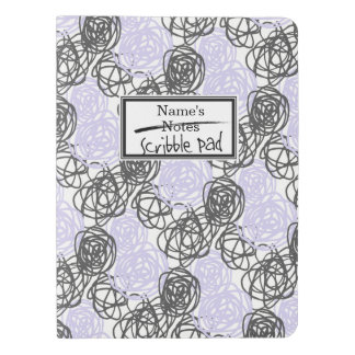 Personalized Notes/Scribble Pad (Purple/Charcoal) Extra Large Moleskine Notebook