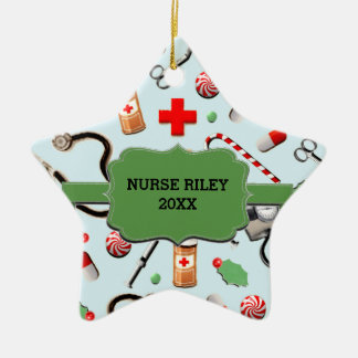 Personalized Nurse Collectible Ceramic Star Decoration