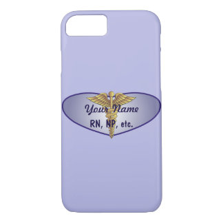 Personalized Nurse Heart Caduceus iPhone 8/7 Case