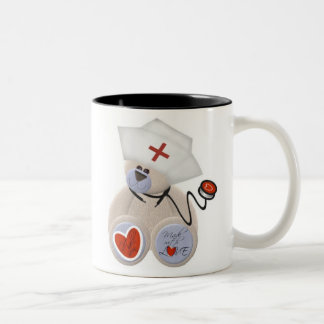 Personalized Nurse Teddy Bear Mug