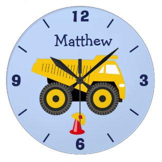 Personalized Nursery Truck Wall Clock