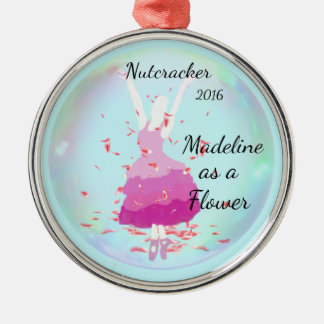 Personalized Nutcracker Ornament - Flower