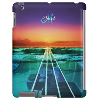 Personalized Ocean Sunset Bass Music iPad Case