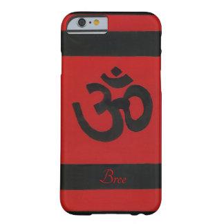 "Personalized ""Om"" Sanskrit Red Black Cell Case"