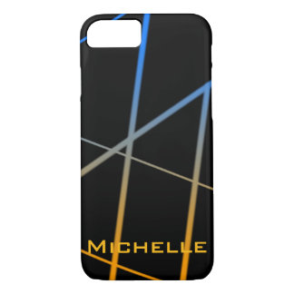 Personalized Orange and Blue Gradient Lines iPhone 8/7 Case