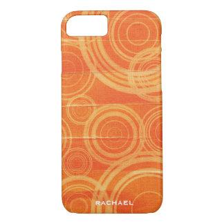 Personalized Orange Circles iPhone 8/7 Case
